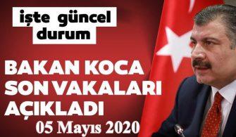 05 Mayıs 2020 Türkiye Genel Koronavirüs Tablosu